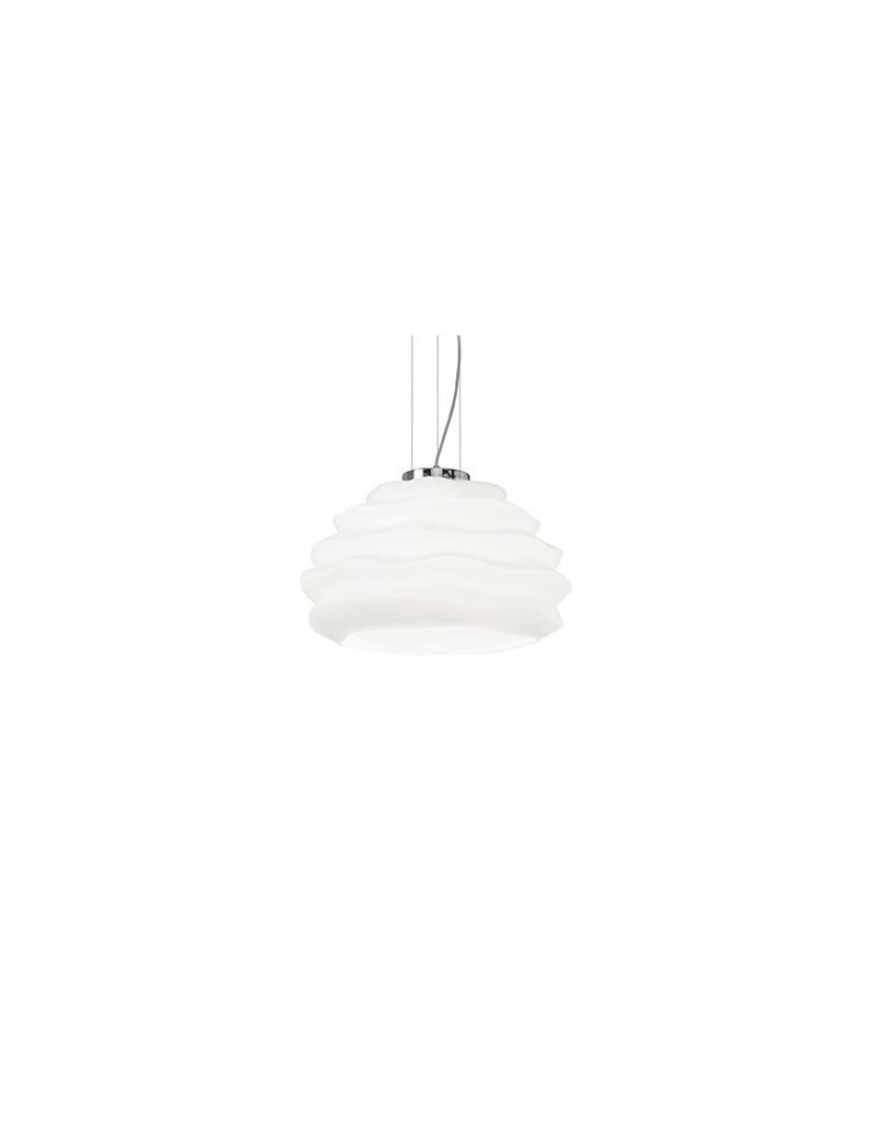 IDEAL LUX: Karma sp1 small sospensione vetro soffiato bianco in offerta