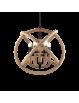 IDEAL LUX: Corda sp6 sospensione metallo nero opaco con canapa naturale in offerta
