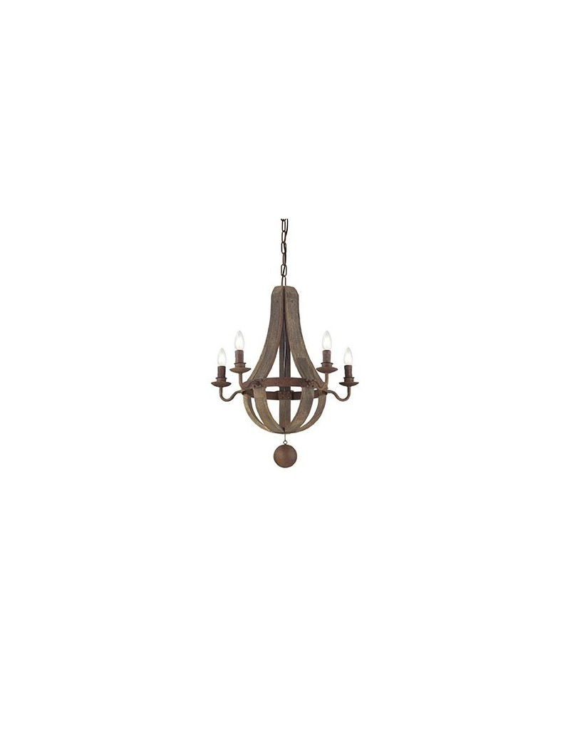 IDEAL LUX: Millennium sp5 sospensione decorativi legno naturale ruggine in offerta