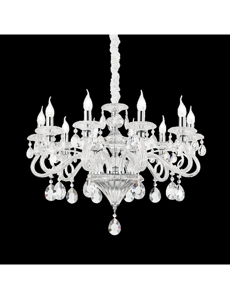 IDEAL LUX: Negresco sp10 lampada a sospensione cristallo vetro soffiato trasparente in offerta