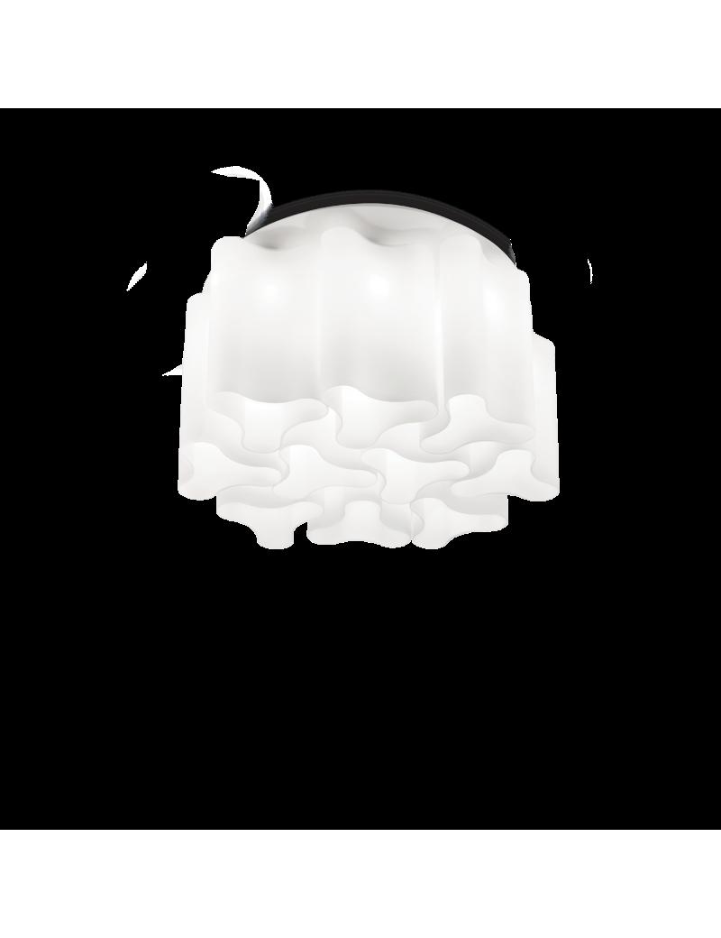 IDEAL LUX: Compo pl10 plafoniera vetro soffiato bianco opaco 73cm in offerta