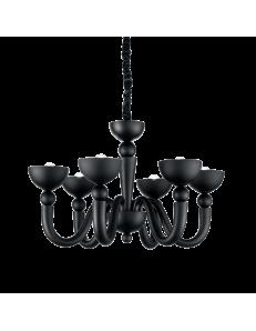 Idea Lux: Bon bon sp6 lampadario sospensione fusione nero in