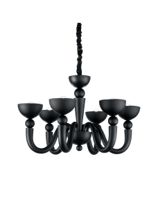 bon bon sp6 lampadario sospensione fusione nero ideal lux new 2017