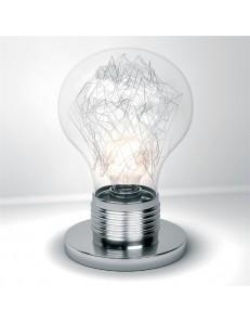 BIG LAMP lumetto vetro trasparente Top Light Illuminazione 1010/P-TR
