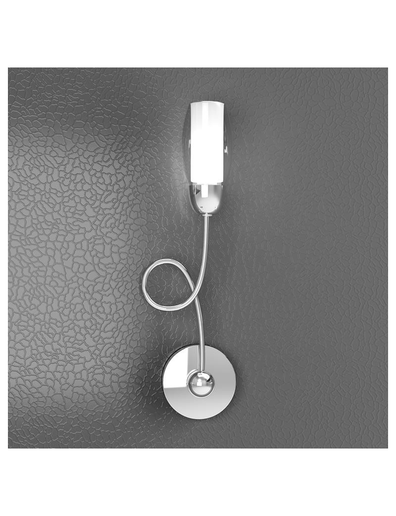 TOP LIGHT: Feeling applique moderno cromo 1 luce vetro bianco in offerta