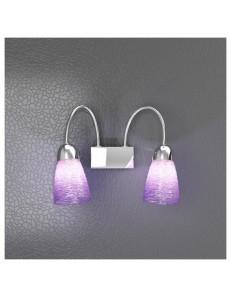 TOP LIGHT: Feeling applique moderno cromo 2 luci vetro colorato lilla in offerta