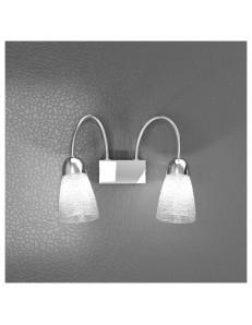 TOP LIGHT: Feeling applique moderno cromo 2 luci vetro trasparente in offerta
