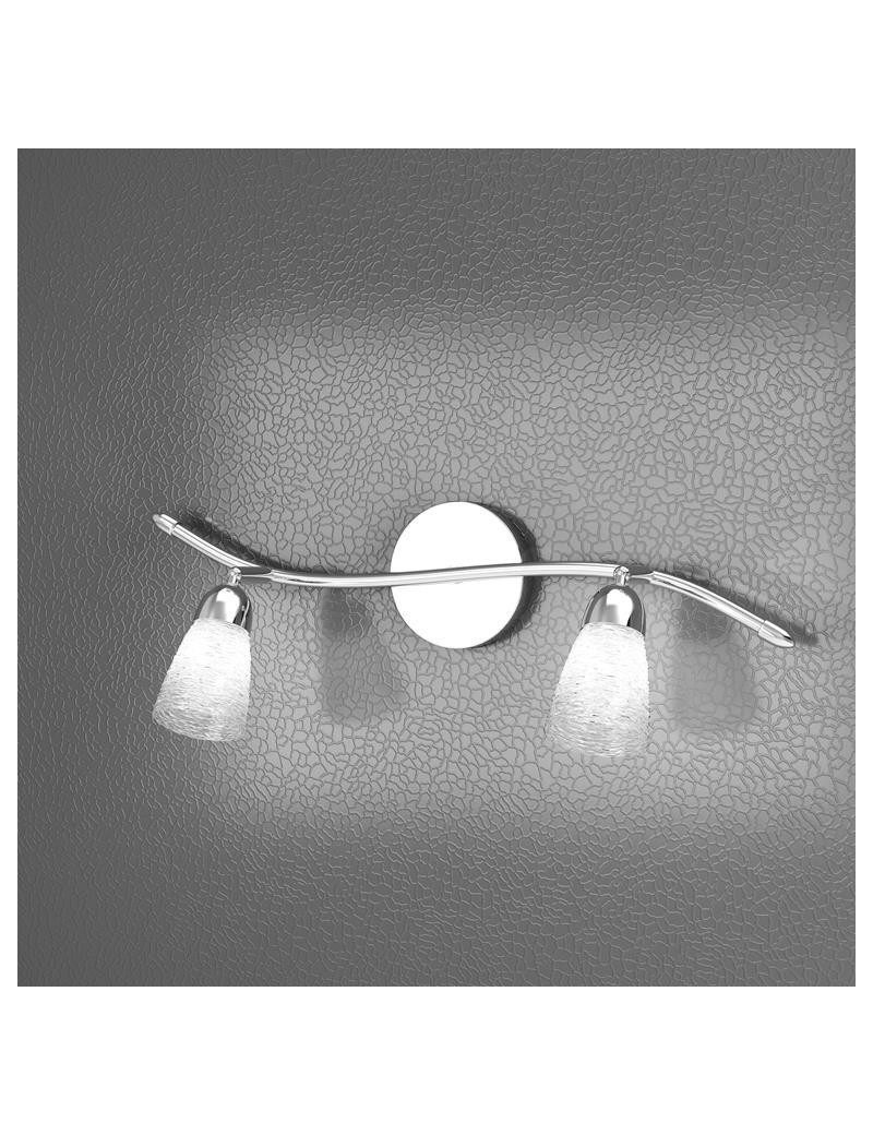 TOP LIGHT: Feeling faretto moderno cromo 2 luci vetro trasparente in offerta