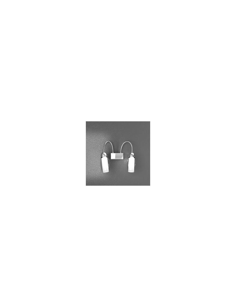 TOP LIGHT: Feeling faretto moderno cromo 2 luci vetro bianco in offerta