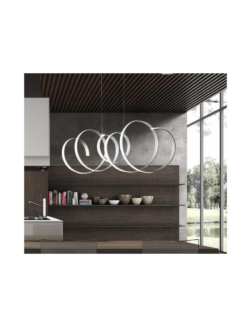 ONDALUCE: Scia sospensione LED spirale design onda 100cm in offerta