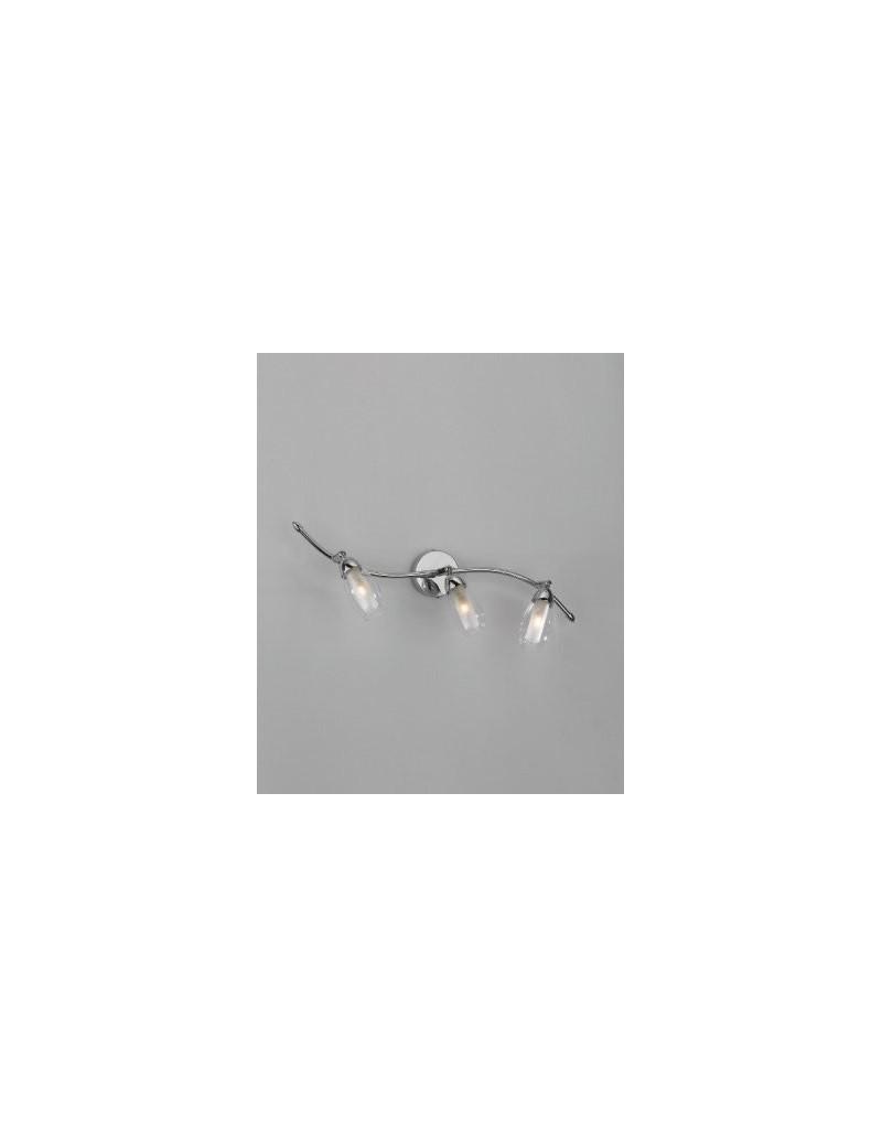 TOP LIGHT: Feeling applique orientabile moderno cromo 3 luci vetro bianco in offerta