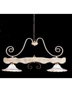 ONDALUCE: Bilanciere legno bianco e ferro avorio cucina taverna diffusore ceramica decorata in