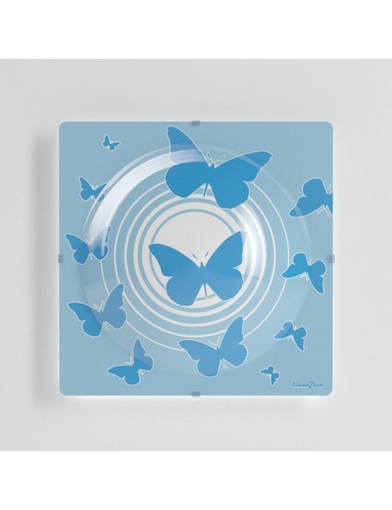LINEAZERO: Plafoniera design farfalle blu azzurro per cameretta bambini in offerta