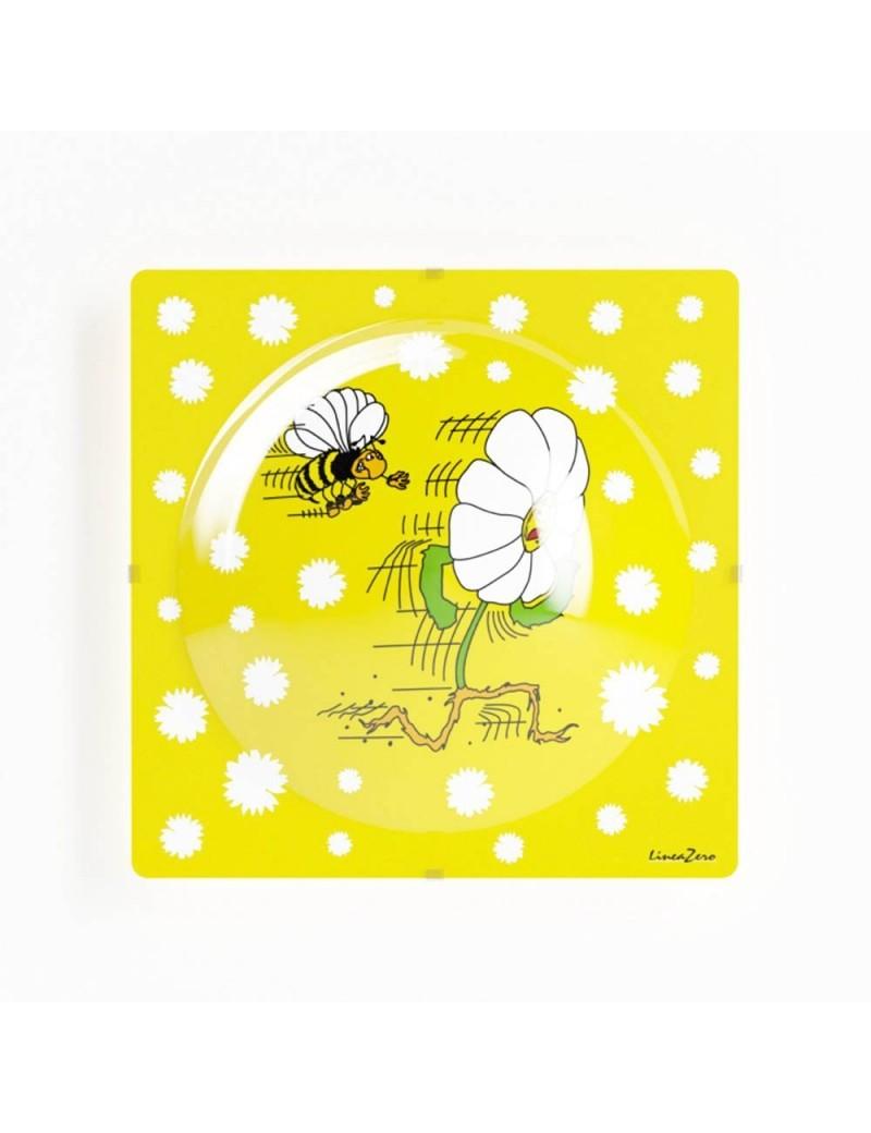 LINEAZERO: Margherita plafoniera design fiore ape giallo per cameretta bambini in offerta