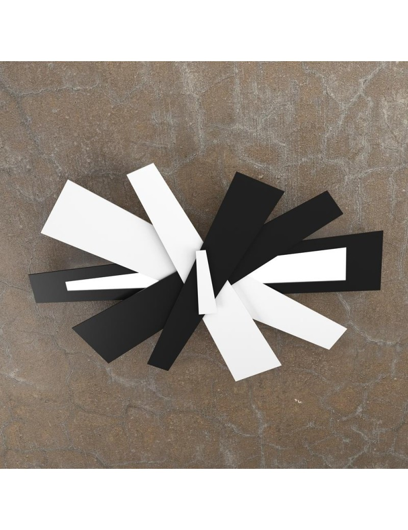 TOP LIGHT: Ribbon plafoniera LED bianco nero moderna 65cm in offerta