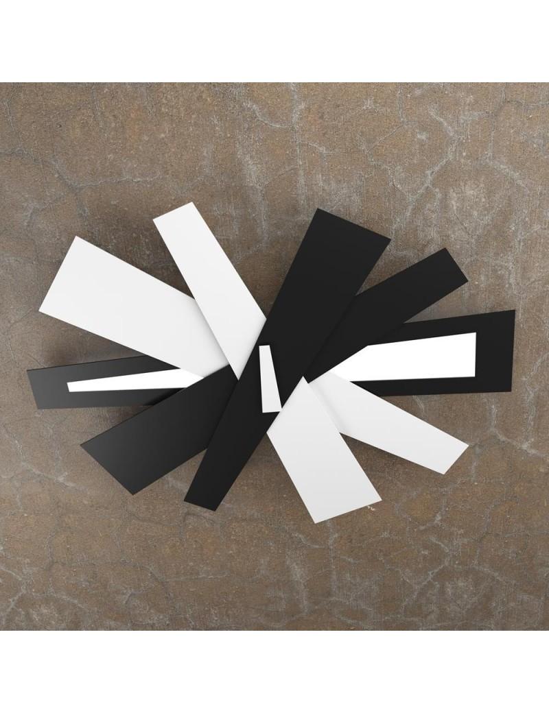 TOP LIGHT: Ribbon plafoniera LED moderna bianco nero 85cm in offerta