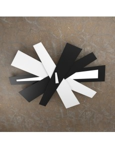 TOP LIGHT: Ribbon plafoniera LED moderna bianco nero 105cm in offerta