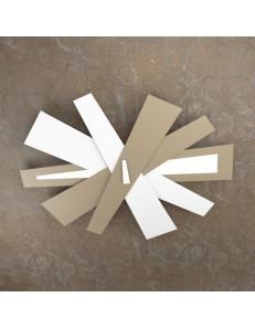 TOP LIGHT: ribbon plafoniera led bianco sabbia top light moderna 105cm in offerta
