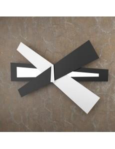 TOP LIGHT: Ribbon applique LED bianco nero moderna 85cm in offerta