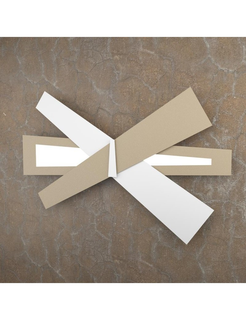 TOP LIGHT: Ribbon applique LED moderna bianco sabbia 85cm in offerta