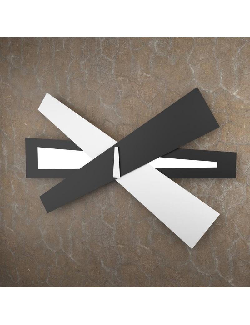 TOP LIGHT: Ribbon applique LED bianco nero moderna 105cm in offerta