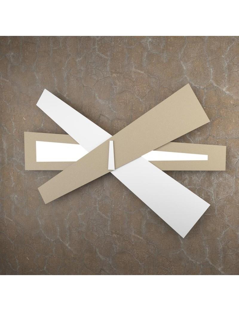 TOP LIGHT: Ribbon applique LED moderna bianco sabbia 105cm in offerta