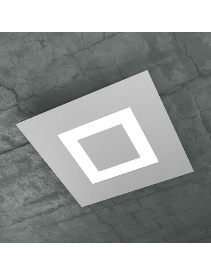 TOP LIGHT: Carpet plafoniera LED quadrata design slim grigio 40x40cm in offerta