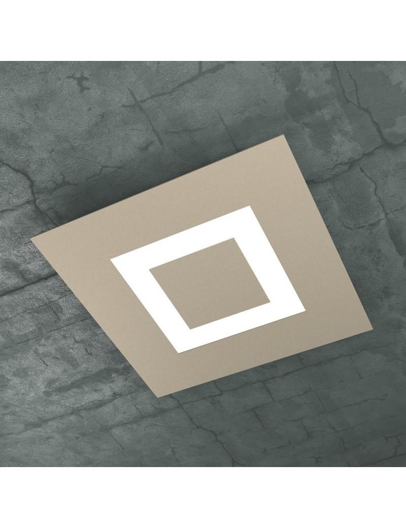 TOP LIGHT: Carpet plafoniera LED quadrata sabbia design slim moderno 40x40cm in offerta