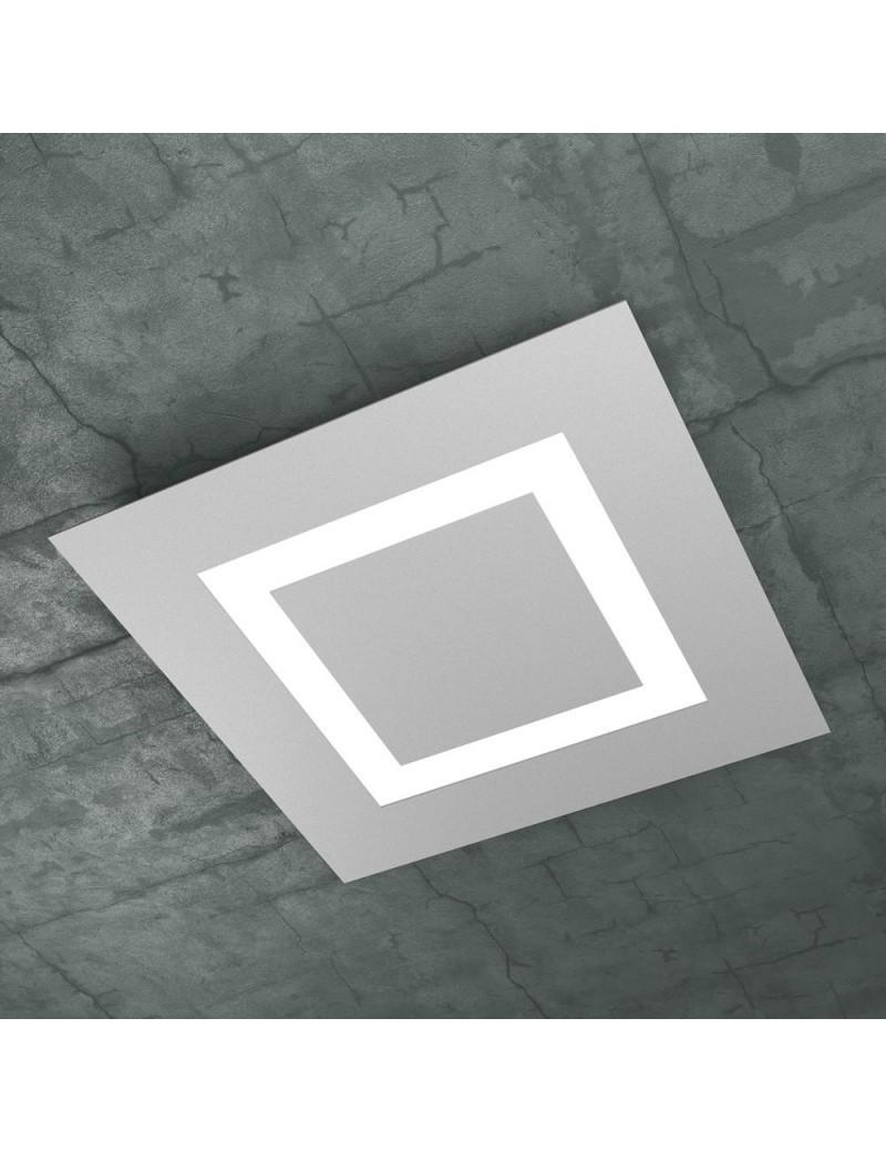 TOP LIGHT: Carpet plafoniera LED quadrata design slim grigio 50x50cm in offerta