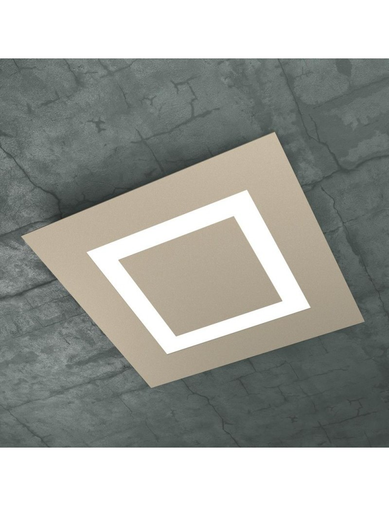 TOP LIGHT: Carpet plafoniera LED quadrata design slim sabbia 50x50cm in offerta