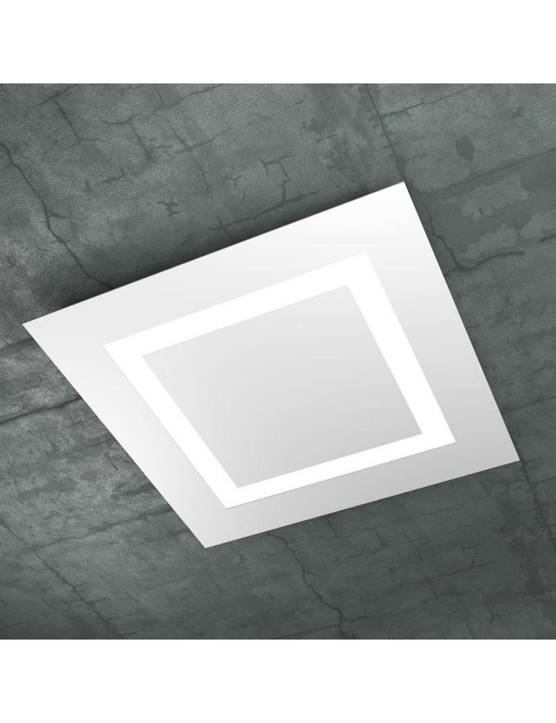 TOP LIGHT: Carpet plafoniera LED quadrata design slim bianco 58x58cm in offerta
