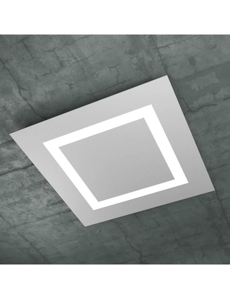TOP LIGHT: Carpet plafoniera LED quadrata 58x58cm design slim moderno grigio in offerta