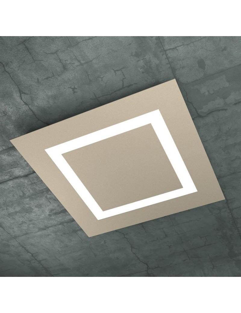 TOP LIGHT: Carpet plafoniera LED quadrata design slim 58x58cm in offerta