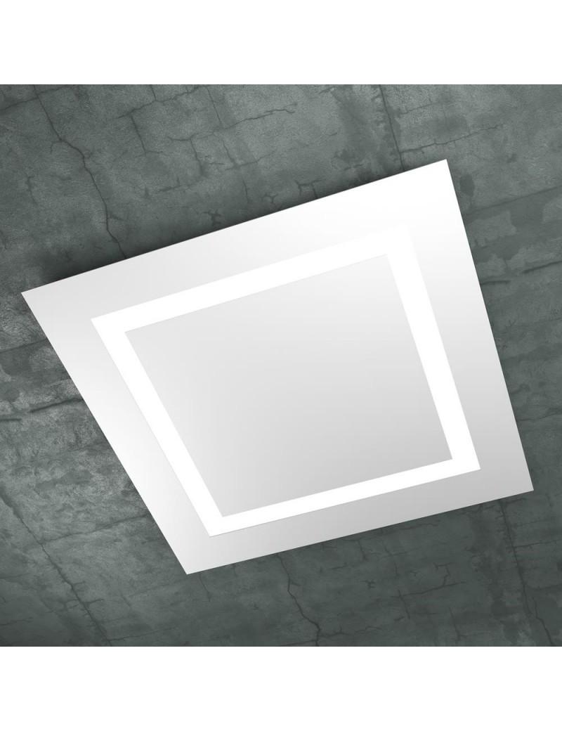 TOP LIGHT: Carpet plafoniera LED quadrata slim bianco design 70cm in offerta