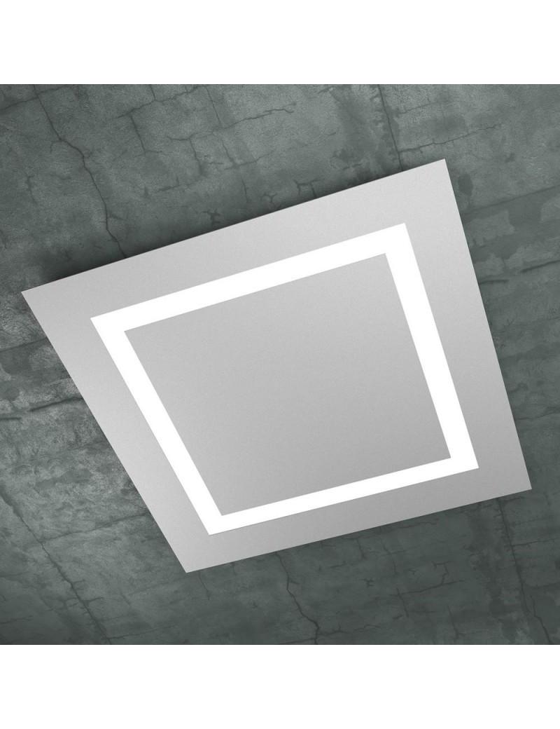 TOP LIGHT: Carpet plafoniera LED quadrata design slim grigio 70cm in offerta