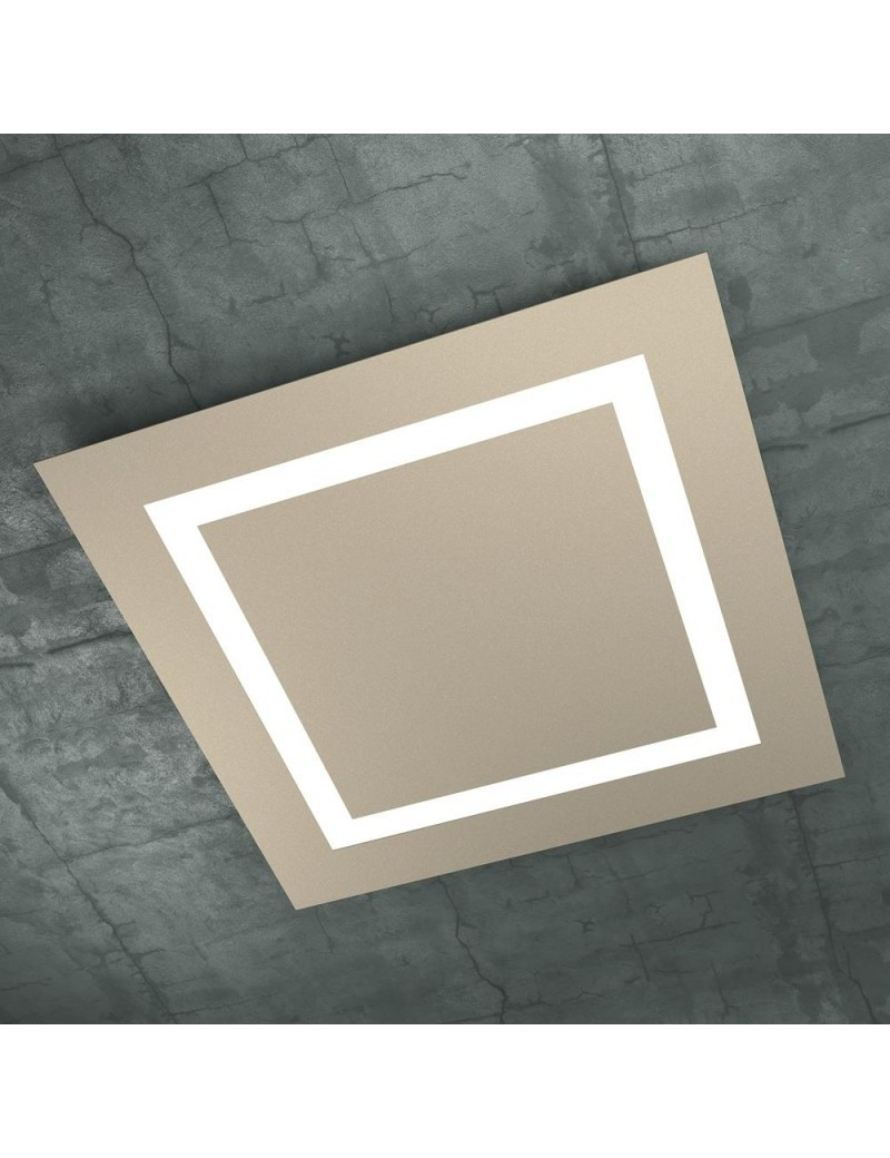 TOP LIGHT: Carpet plafoniera LED quadrata design slim sabbia 70cm in offerta