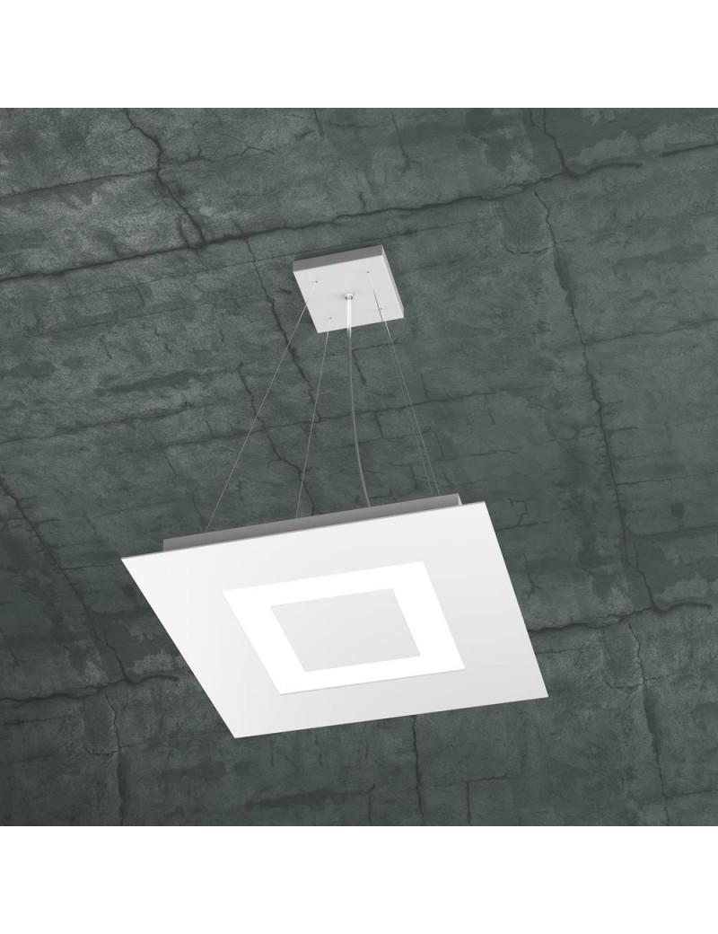 TOP LIGHT: Carpet sospensione LED quadrata design slim bianco 40x40cm in offerta