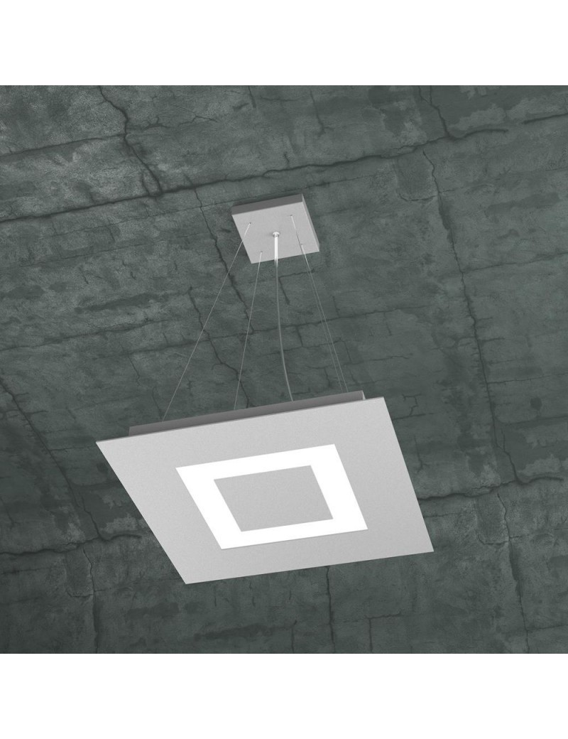 TOP LIGHT: Carpet sospensione LED quadrata design slim moderno grigio 40x40cm in offerta
