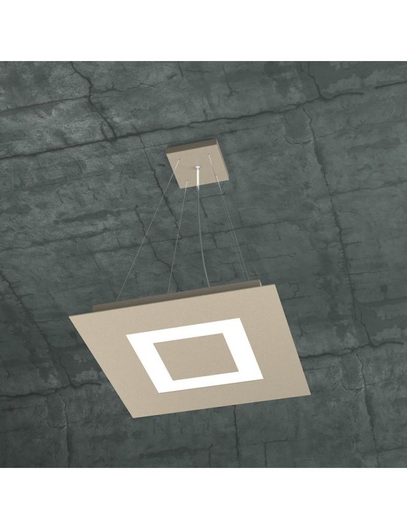 TOP LIGHT: Carpet sospensione LED quadrata design slim sabbia 40x40cm in offerta