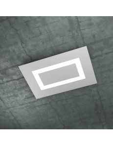 CARPET PLAFONIERA RETTANGOLARE SMALL LED TOP LIGHT GRIGIO DESIGN SLIM MODERNO