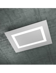 CARPET PLAFONIERA RETTANGOLARE BIG LED TOP LIGHT GRIGIO DESIGN SLIM MODERNO