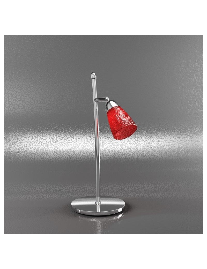TOP LIGHT: Feeling lumetto moderno cromo 1 luce vetro rosso in offerta