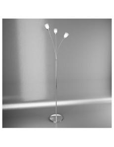 TOP LIGHT: Feeling piantana lampada cromo 3 luci vetro trasparente in offerta