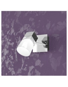 TOP LIGHT: Sunny 1 luci cubo applique parete faretto cromo in offerta