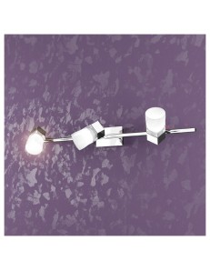 TOP LIGHT: Sunny 3 cubo luci applique faretto plafoniera cromo in offerta