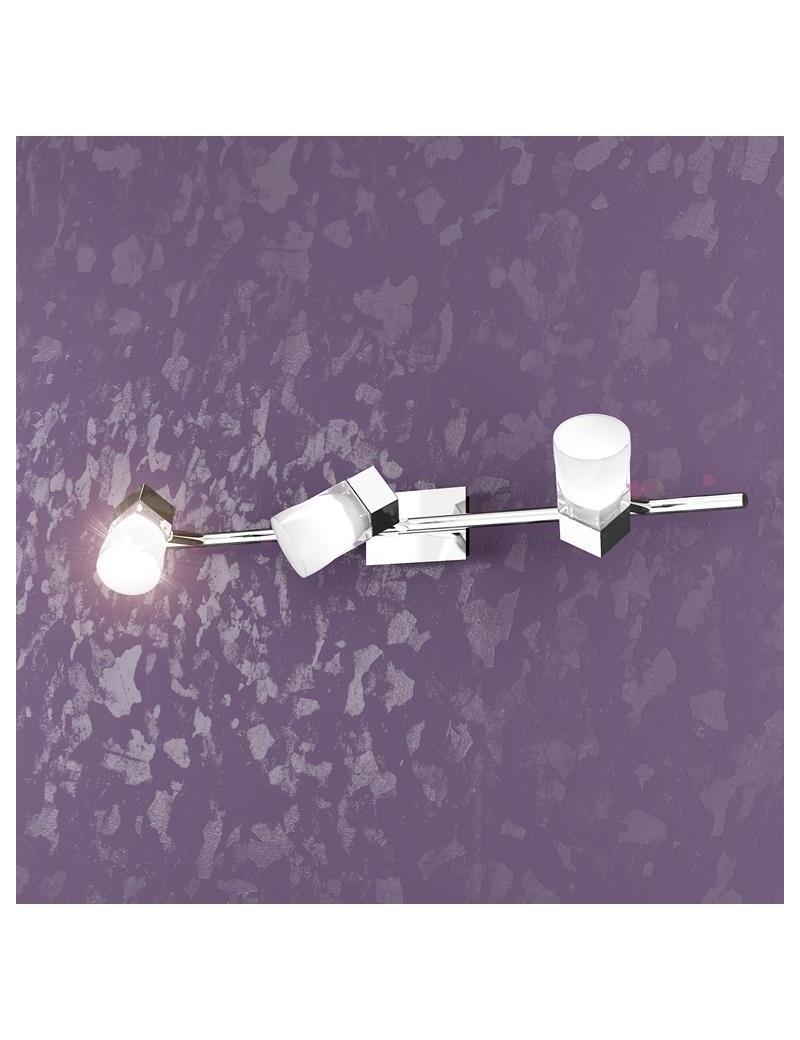 TOP LIGHT: Sunny 3 cubo luci applique faretto plafoniera cromo in offerta