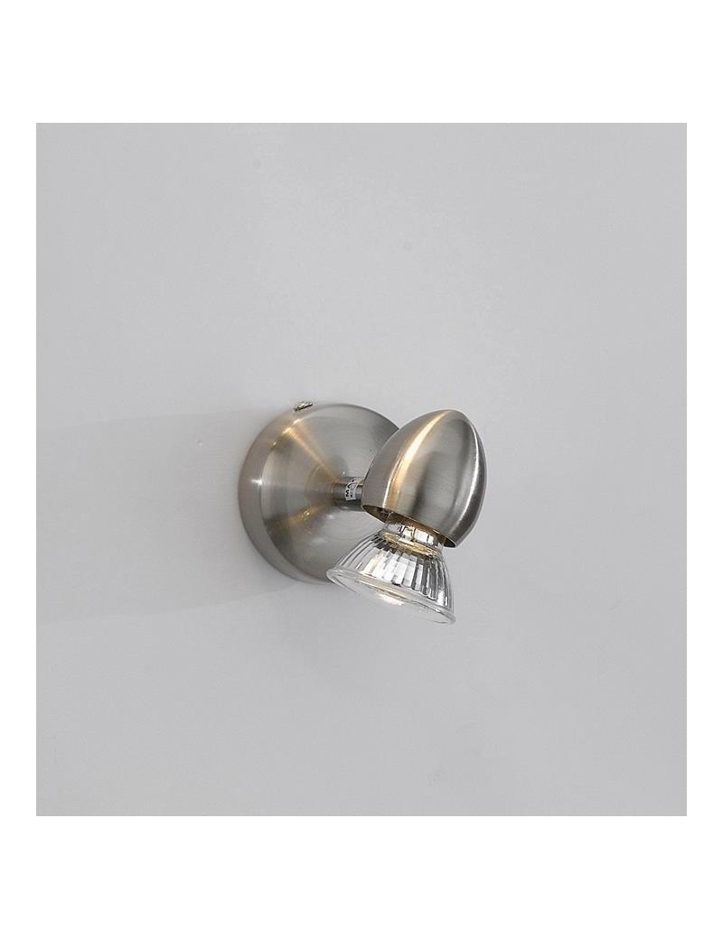TOP LIGHT: Two penny faretto applique nichel satinato 1 luce in offerta