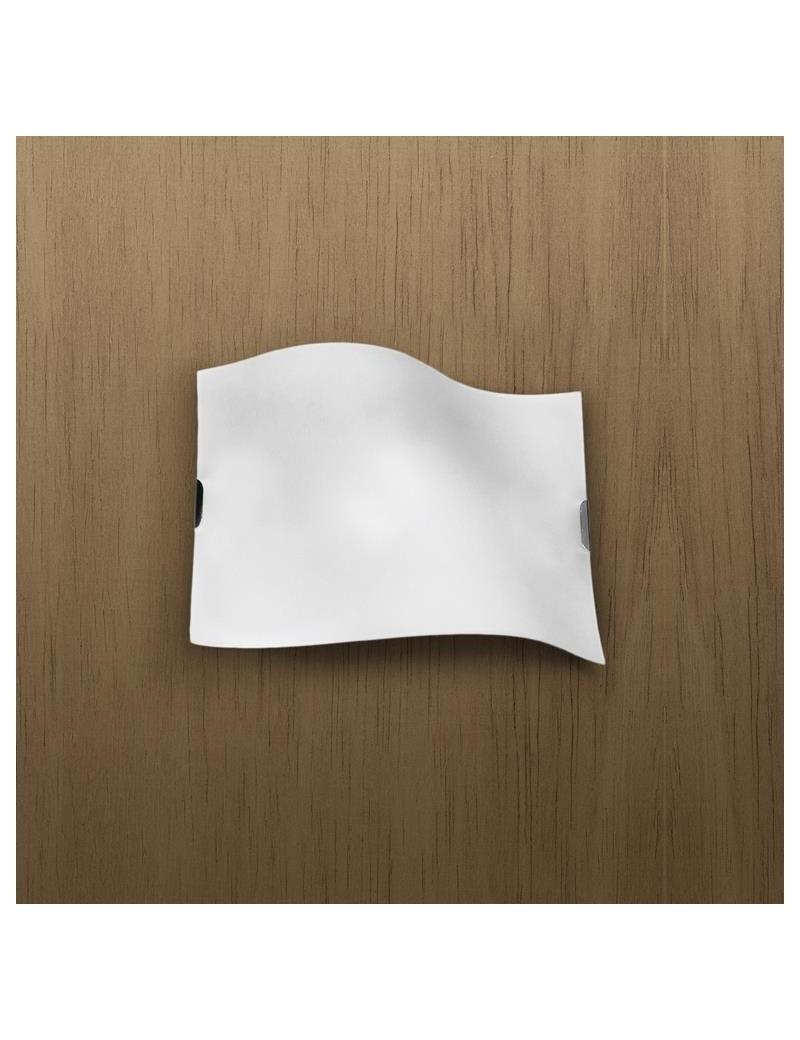 TOP LIGHT: Wing applique moderno parete lastra curva metallo bianco satinato in offerta