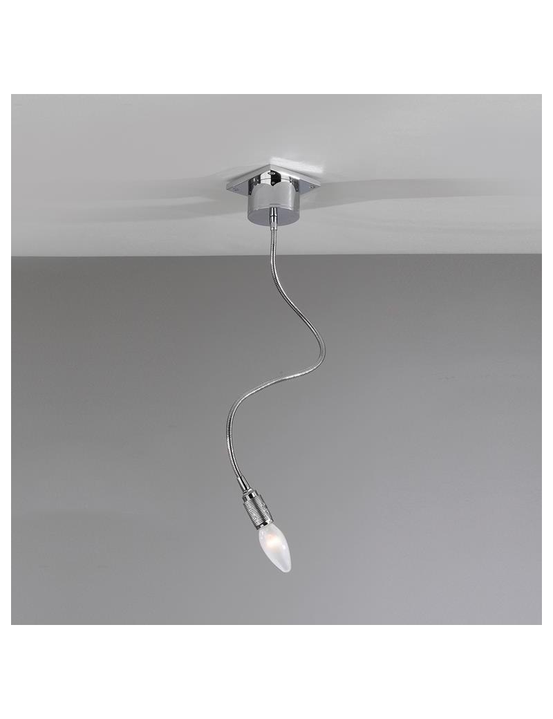 TOP LIGHT: Winding 1 luce plafoniera lampada cromo flessibili modellabili in offerta