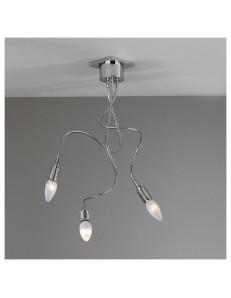 PLAFONIERA LAMPADA CROMO WINDING 3 LUCI FLESSIBILI MODELLABILI TOP LIGHT
